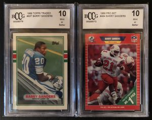 Barry Sanders Rookie Cards (1989 Topps and Pro Set) for Sale in Hudsonville, MI