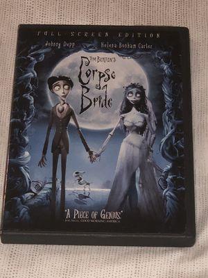 Tim Burton's The Corpse Bride DVD Full Screen Johnny Depp Helena Bonham Carter for Sale in Miami, FL