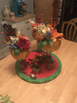 Fall floral pumpkin topiary centerpiece for Sale in Monroe Township,  NJ