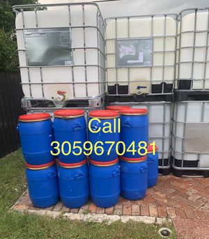 15/20 gallons plastic barrels open top removable, barrel, barril , barriles for Sale in Miami, FL