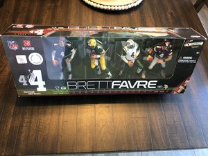 McFarlane Toys NFL Brett Favre Through the Years Exclusive Action Figure 4-Pack #4 of 4 [Black Falcons Jersey] for Sale in Miami, FL