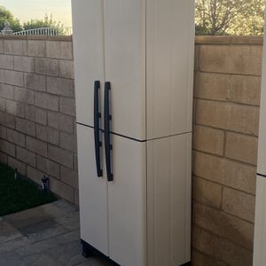 "Brand New Outdoor Storage Shed Resin Storage Cabinet Plastic All Weather Conditions 6ft X 27"" X 16"" Like Rubbermaid Keter Suncast for Sale in Yorba Linda, CA"