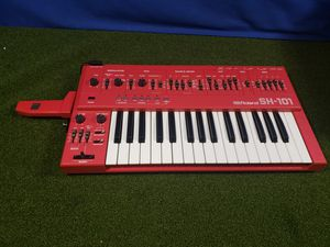 Vintage Red Roland SH-101 Monophonic Analog Synthesizer Keyboard SH101 mod grip for Sale in Kent, WA