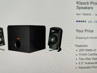 Klipsch ProMedia 2.1 THX Computer Speakers for Sale in Issaquah,  WA