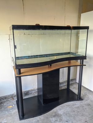 FREE xtras w/ 75 Gallon Wave-Front aquarium tank & stand for Sale in Seattle, WA