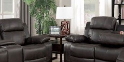 Brand New Leather Set of Sofa and Loveseat with Build In Recliners for Sale in Downey,  CA