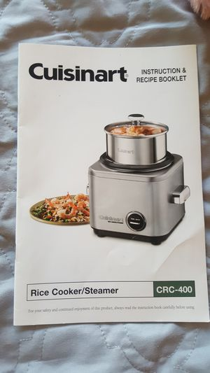 Cuisinart rice cooker and steamer for Sale in Chevy Chase, MD