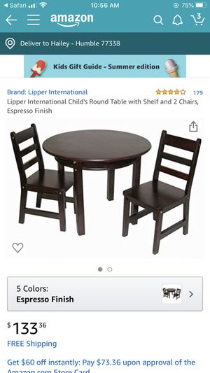Kids wooden table and chair set for Sale in Humble, TX