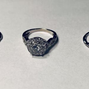 Diamond/White Gold 3-piece Wedding Ring for Sale in Thornton, CO
