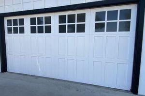 14x7 solid wood sectional garage door installed for Sale in Fresno, CA