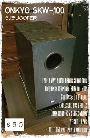 ONKYO Subwoofer for Sale in Sharon, MA