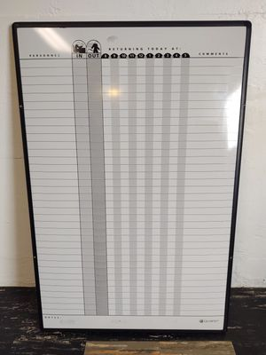 In/Out Staff Whiteboard for Sale in Eau Claire, WI