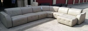 Novara 6pc Italian leather sectional sofa for Sale in Decatur, GA