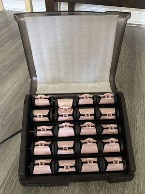 Remington H9000 pearl ceramic heated clip hair rollers for Sale in Fairfax, VA