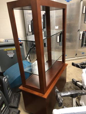 Wooden shelf/display with glass partitions for Sale in Overland Park, KS