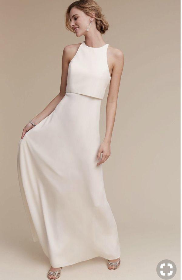 Linen Wedding Dress.Simple Minimalist French Linen Wedding Dresses For Sale In