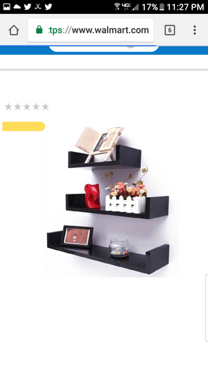 3 black u-shapex shelves for Sale in Livonia, MI