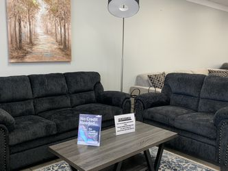 Very Comfy Charcoal Grey 2PC Sofa & Loveseat Set for Sale in North Richland Hills,  TX