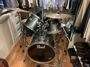 Pearl EX Series 5 piece Drum Set Grey for Sale in Miami Beach, FL