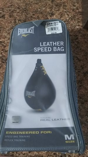 EVERLAST leather speed bag for Sale in Menifee, CA