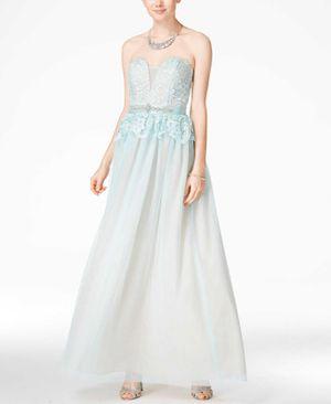 B. Darlin Juniors Lace Gown Aqua 5-6 for Sale in Norfolk, VA