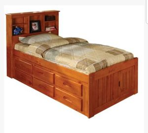 Wood Trundle Bed for Sale in Winder, GA