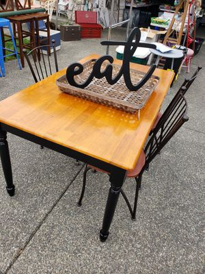Table and 3 chairs for Sale in Federal Way, WA