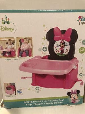 Baby Disney Minnie Mouse Booster Seat for Sale in Mt. Juliet, TN