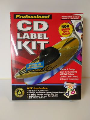 Professional CD Label Kit Bonus Pack PROFESSIONAL CD LABEL KIT for Sale in Glendale, AZ