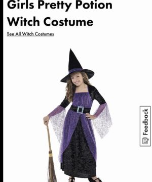Girls Witch costume size 9/10 for Sale in San Diego, CA