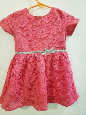 Carters baby girl 18M pink lace dress for Sale in Brooklyn, NY