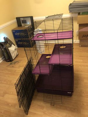 Large cage for ferrets, adult rats, degus, or chinchilla for Sale in Louisville, KY