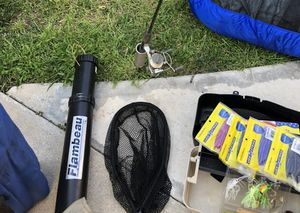 Flambeau Rod Case And net for Sale in Phillips Ranch, CA