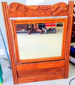 Antique Carved Oak Dresser Mirror for Sale in Atlanta, GA