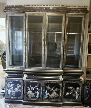 Rare Antique China Cabinet - Mother Pearl for Sale in Las Vegas, NV