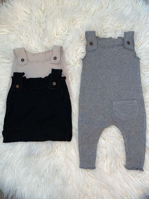 Baby girl romper neutral overalls for Sale in Fontana, CA