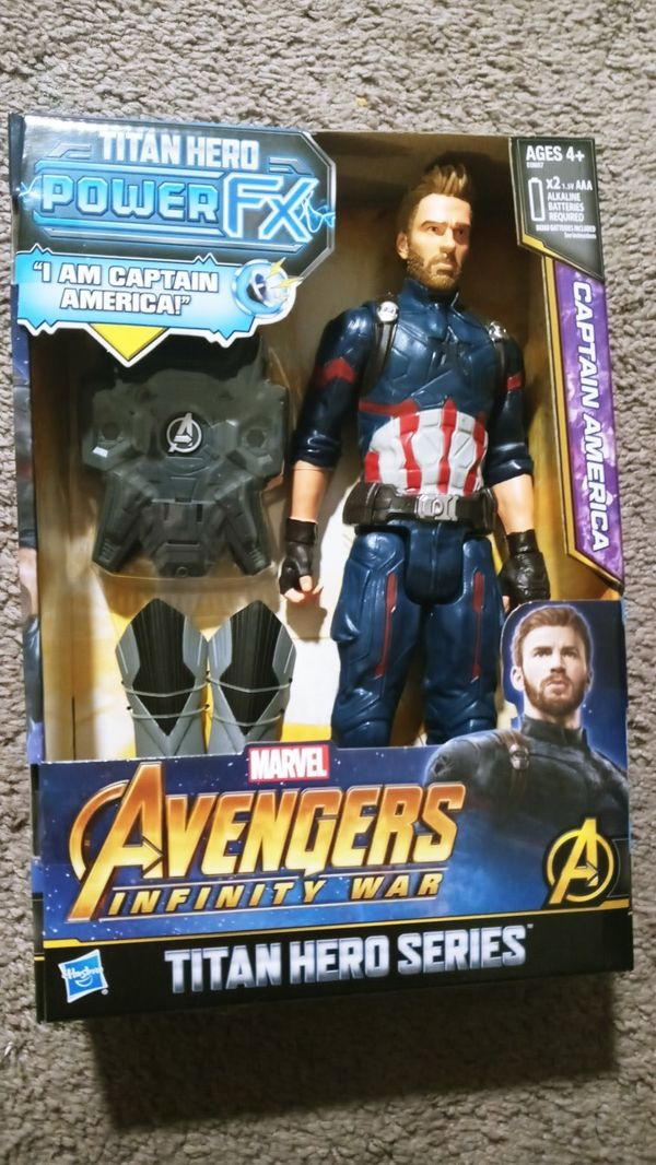 Brand new Titan hero Power FX Captain America Avengers Infinity War 12 inch figure