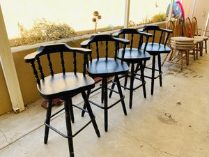 4 Black Spinning Stools or Billiard Chairs for Sale in Scottsdale, AZ