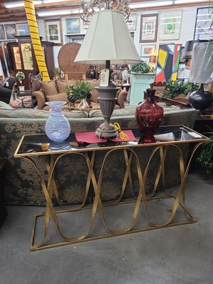 Entry Table Gold metal 🪑 Another Time Around Furniture 2811 E. Bell Rd for Sale in Phoenix, AZ