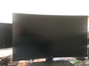 """Dell - 32"""" LED Curved QHD FreeSync Monitor with HDR comes with 4 year geek squad warranty for Sale in Flagstaff, AZ"""