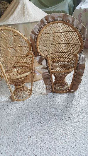 Very nice collection of dolls wicker chairs for Sale in Harrisonburg, VA
