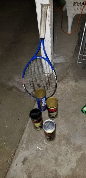 Baseball bats and tennis items for Sale in Fresno, CA