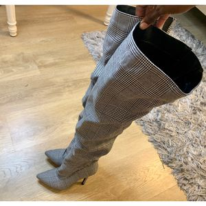 Forever 21 Plaid High Thigh Boots - Size 6.5 for Sale in Miami, FL