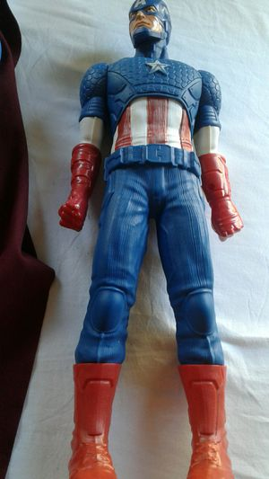 Pre-owned Captain America And Large Super Man Figures $40 for Sale in Powder Springs, GA