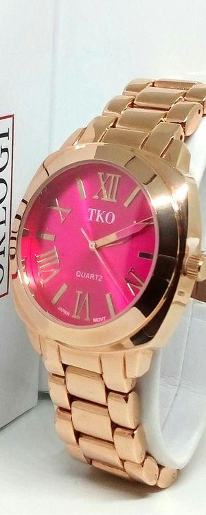TKO ORLOGI Pink Face Rose Gold Boyfriend Oversized Watch Brand New in Box for Sale in Boca Raton, FL