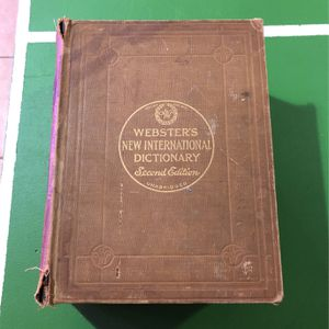 1949 Webster's dictionary second edition for Sale in Franklin, TN
