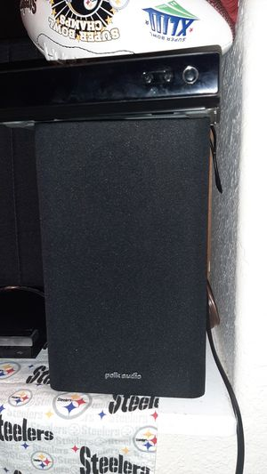 2 polk audio r1 speakers with a great surround sound. These two speakers make a dynamic sound to any home audio speaker systems. for Sale in Colorado Springs, CO