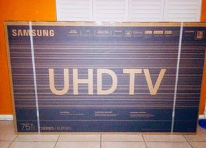 "75"" SAMSUNG UN75RU710D 4K UHD HDR LED SMART TV 2160P (FREE DELIVERY) for Sale in Lakewood, WA"