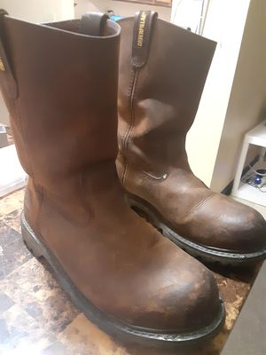 10.5 Caterpillar slip on boots steel toe slip resistant for Sale in Lancaster, OH