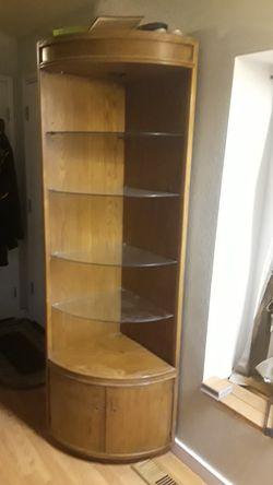 Two oak corner display cabinets/shelf for Sale in Federal Way,  WA